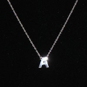 Jewelry - Silver Style Sterling Polished Initial Pendant A